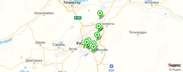 салоны оптики на карте Караганды