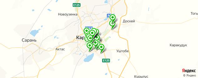 Доставка роллов на карте Караганды