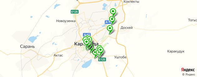 студии загара на карте Караганды