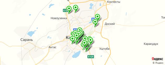 фитнес-клубы на карте Караганды