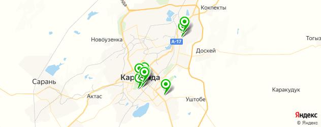 гимназии на карте Қарағанды