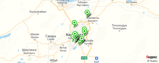 сервисные центры на карте Караганды