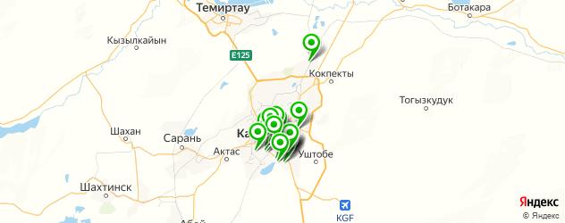 караоке-клубы на карте Караганды