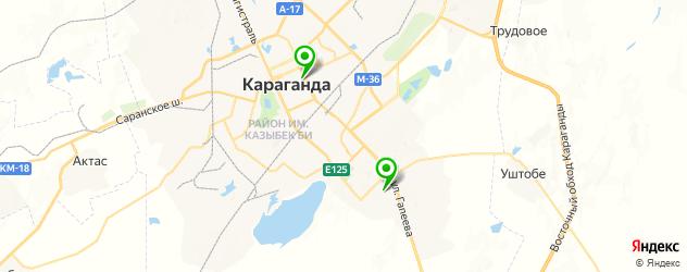 детские поликлиники на карте Караганды