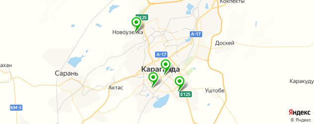 рестораны с детской комнатой на карте Караганды