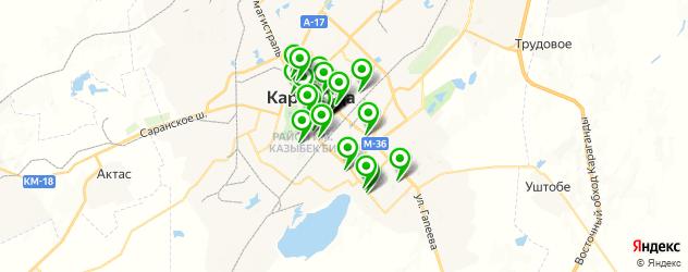 день рождения на карте Караганды