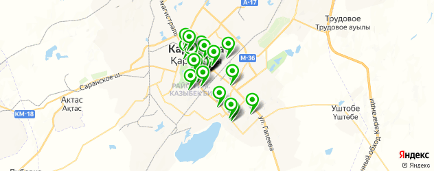 корпоратив на карте Караганды