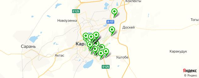 пиццерии на карте Қарағанды