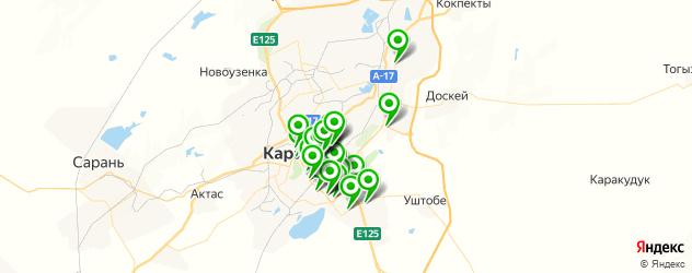 Доставка пиццы на карте Караганды