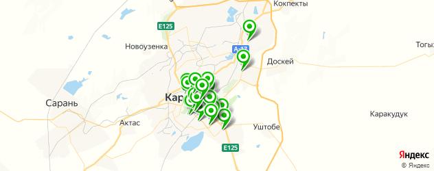 Доставка еды на карте Қарағанды