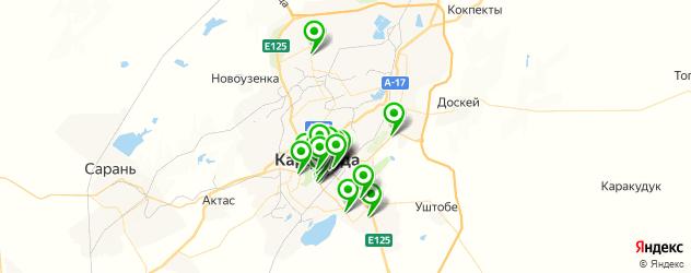 парикмахерские на карте Қарағанды