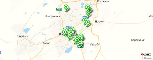 автостоянки на карте Караганды