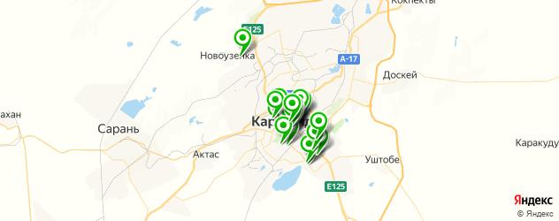 Развлечения на карте Караганды