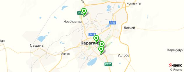 фитнесы с бассейном на карте Караганды
