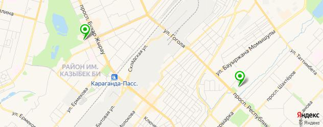 ледовые дворцы на карте Караганды