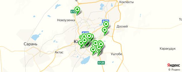 Спорт и фитнес на карте Қарағанды