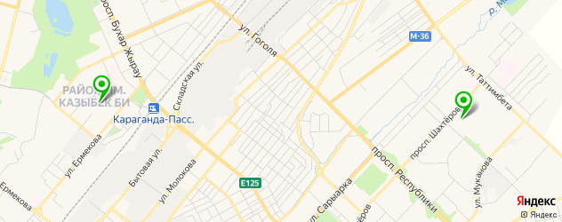кальянные на карте Караганды