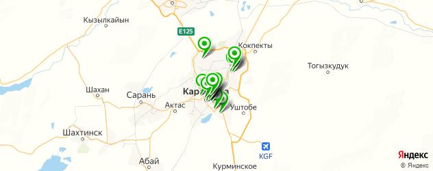 автошколы на карте Караганды