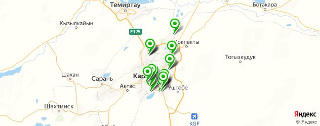 банкоматы на карте Қарағанды