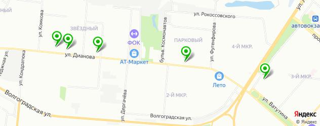 медицинские центры на карте улицы Дианова