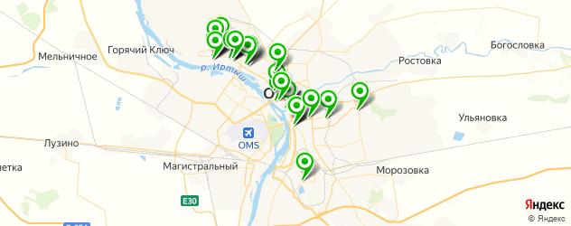университеты на карте Омска
