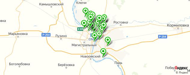 химчистки на карте Омска