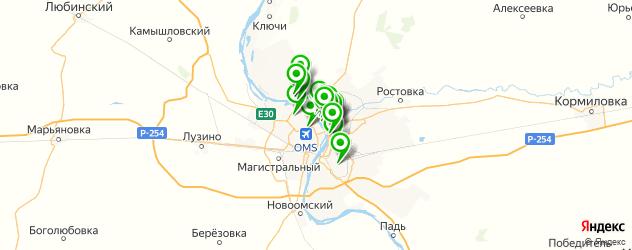 Развлечения на карте Омска