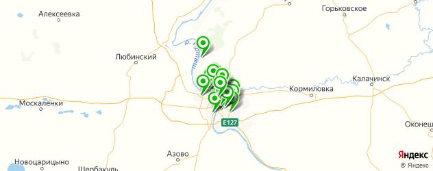 библиотеки на карте Омска