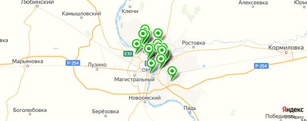 сервисные центры на карте Омска