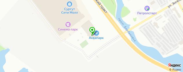 ледовые дворцы на карте Сургута
