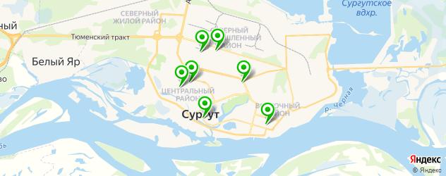 ортопедические магазины на карте Сургута