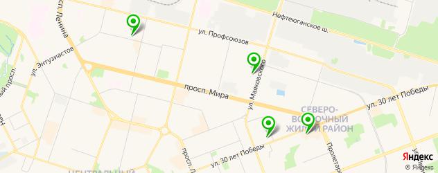 кадровые агентства на карте Сургута