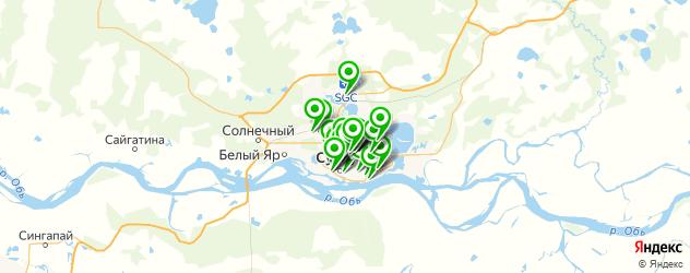 рестораны с вип комнатами на карте Сургута