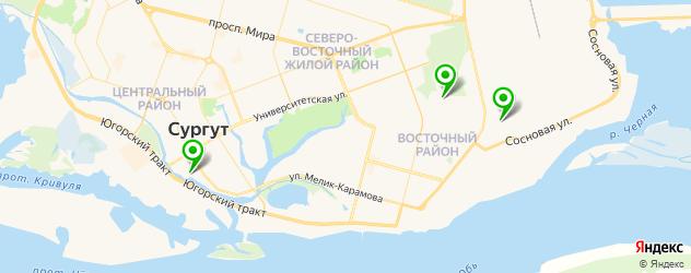 официальные сервисы Вольво на карте Сургута