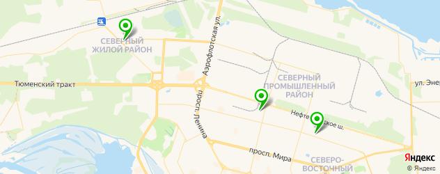 караоке-клубы на карте Сургута