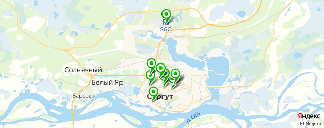 рестораны с детской комнатой на карте Сургута