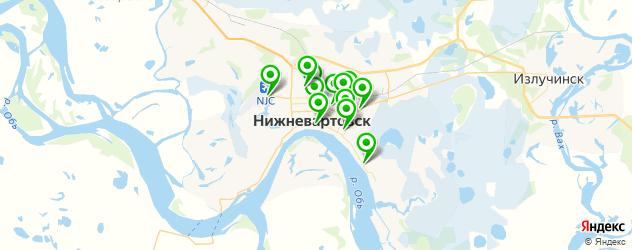 вегетарианские кафе на карте Нижневартовска