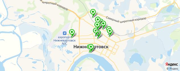 автостоянки на карте Нижневартовска