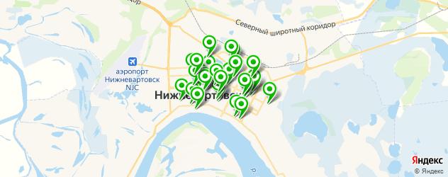 стоматологические клиники на карте Нижневартовска