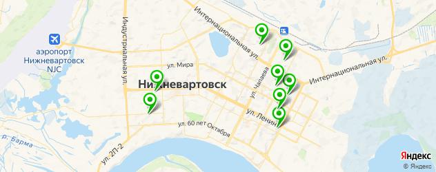 спортивные клубы на карте Нижневартовска