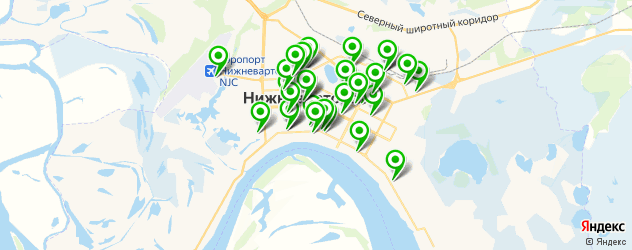 Развлечения на карте Нижневартовска