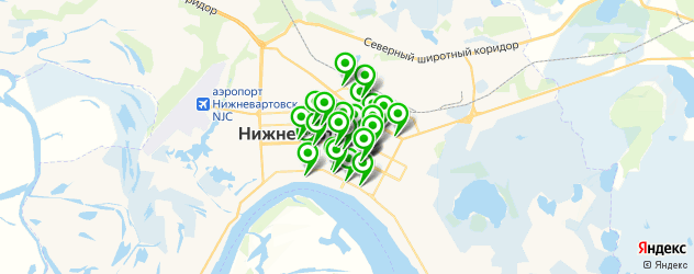 банки на карте Нижневартовска