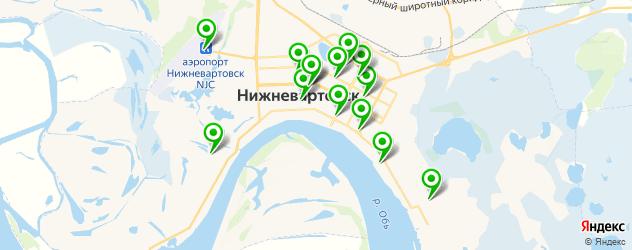 отделения Почты России на карте Нижневартовска