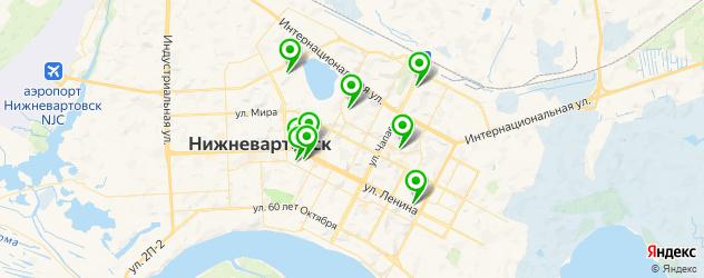 больницы на карте Нижневартовска