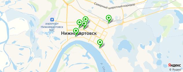 бары с танцполом на карте Нижневартовска