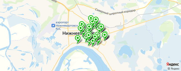 массажные салоны на карте Нижневартовска