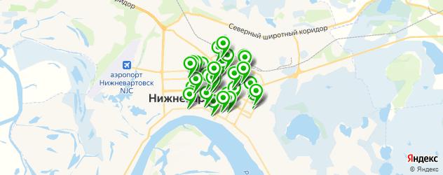 студии загара на карте Нижневартовска