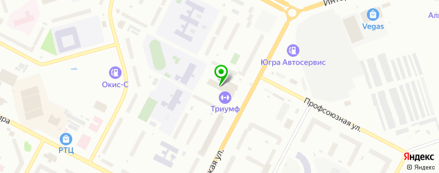 теннисные корты на карте Нижневартовска