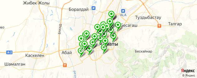 шиномонтажи на карте Алматы