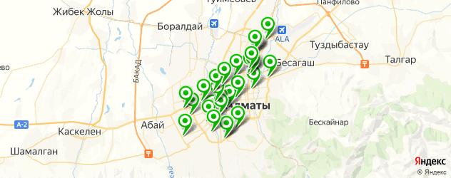 автосервисы на карте Алматы